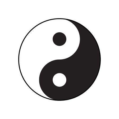 yin y yang: Ying-yang símbolo de la armonía y el equilibrio. Estilo plano.