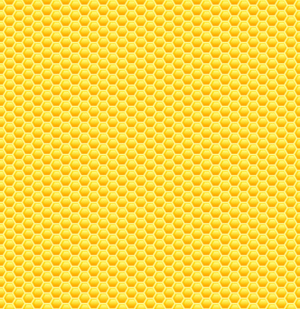 Seamless glossy yellow honeycomb pattern. Sweet background. Vettoriali