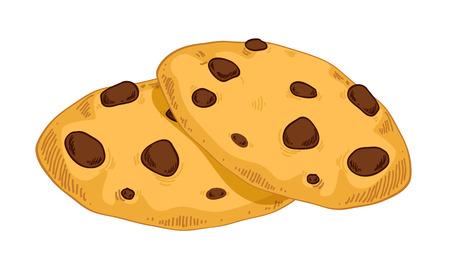 cookies: Sweet cookies in hand drawn style. Bakery sketch. Illustration
