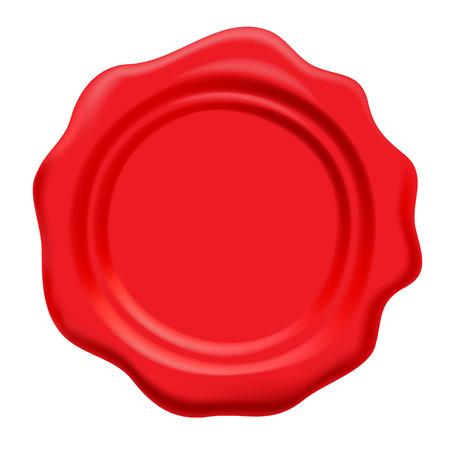 wax stamp: Red wax seal. Vector illustration. Postal symbol. Illustration