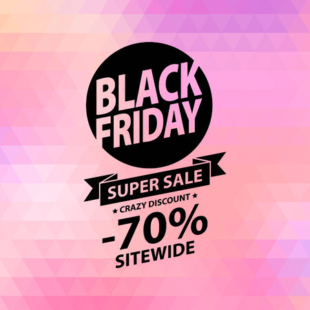 black a: Black friday sale illustration. Advertising poster. Illustration