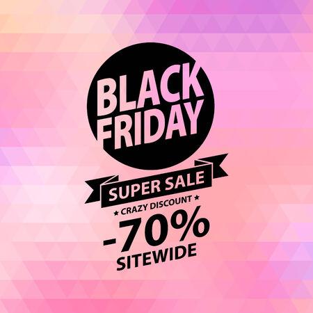 Zwarte vrijdag verkoop afbeelding. Adverteren poster. Stock Illustratie