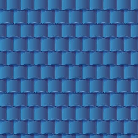 원활한 지붕 타일 패턴 - 파랑 질감. 건축 배경입니다. 일러스트