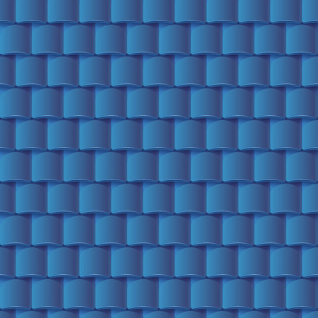 slate roof: Seamless roof tiles pattern - blue texture. Architectural background. Illustration