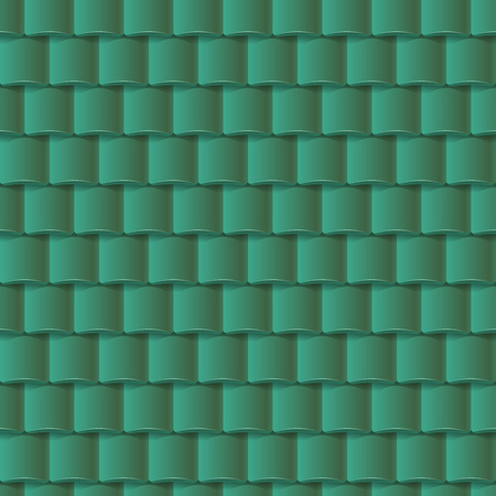 slate roof: Seamless roof tiles pattern - green texture. Architectural background.