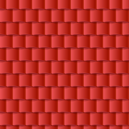 Seamless roof tiles pattern - red texture. Architectural background.