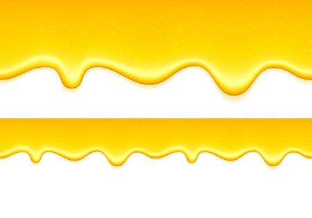 Yellow drips on white back. Lemon jelly or honey drops.