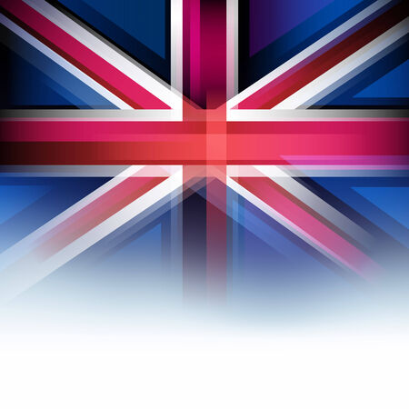 britain flag: United Kingdom flag in motion blur style, faded white. UK, Great Britain background.