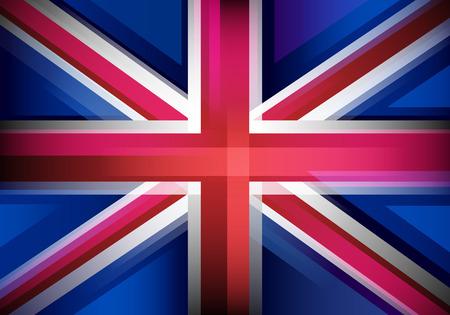 britain flag: United Kingdom flag in motion blur style. UK, Great Britain background. Illustration