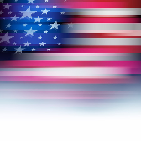 united states flag: American flag in motion blur style, faded in white. USA, United States background. Stars and stripes.