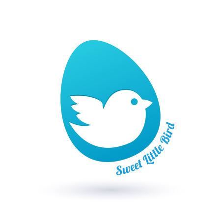 little bird: Peque�o p�jaro en se�al de huevo. S�mbolo Embarazo.