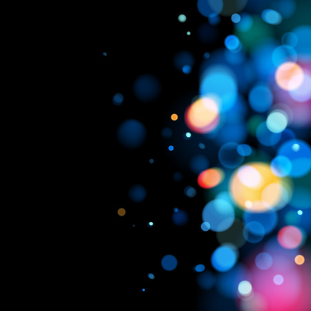 Abstract colorful bokeh blurry background. Festive celebration template.