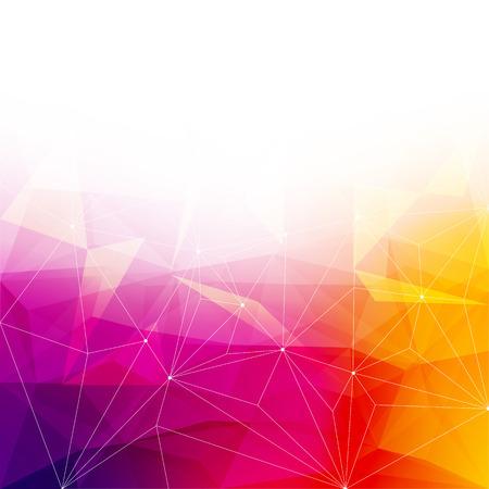 Kleurrijke abstracte kristal achtergrond. Ijs of juweel structuur. Roze, gele en rode heldere kleuren. Stock Illustratie