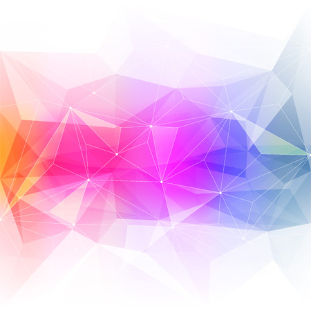 Colorful abstract crystal background. Ice or jewel structure. Pink, Yellow and green bright colors.