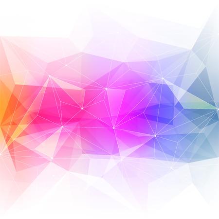 カラフルな抽象的な結晶の背景。氷や宝石の構造。ピンク、黄色、緑の明るい色。  イラスト・ベクター素材
