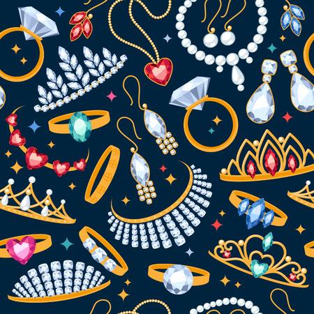 perlas: Art�culos de joyer�a transparente de fondo oscuro. Modelo con los anillos, pendientes, perlas y piedras preciosas.