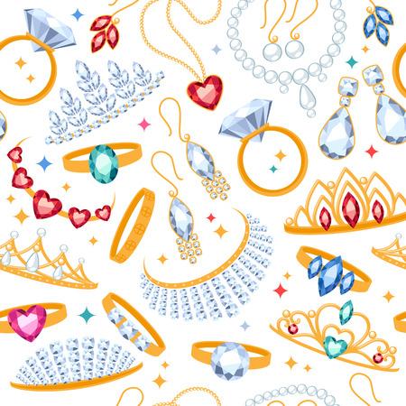 anillos de matrimonio: Art�culos de joyer�a transparente de fondo blanco. Modelo con los anillos, pendientes, perlas y piedras preciosas.