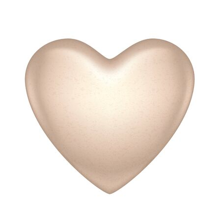 bonbon: Glossy vector white chocolate heart bonbon. Good for Valentine day design. Illustration