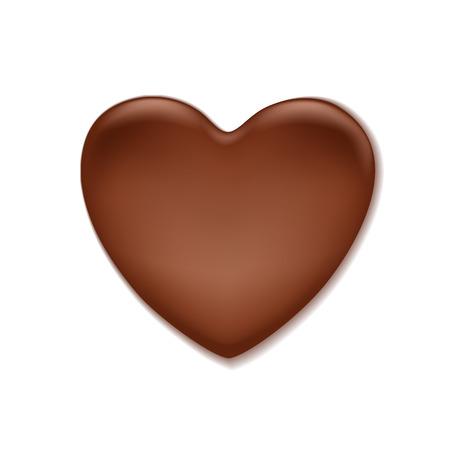 hintergrund liebe: Schokolade herzf�rmigen Fleck. S��e Hintergrund. Liebe Symbol. Illustration