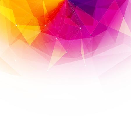 prisma: Fondo colorido de cristal abstracto. El hielo o estructura de la joya. Rosado, amarillo y rojo los colores brillantes.