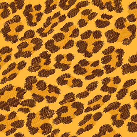 leopard print: Leopard fur seamless scribble pattern - yellow and brown colors.