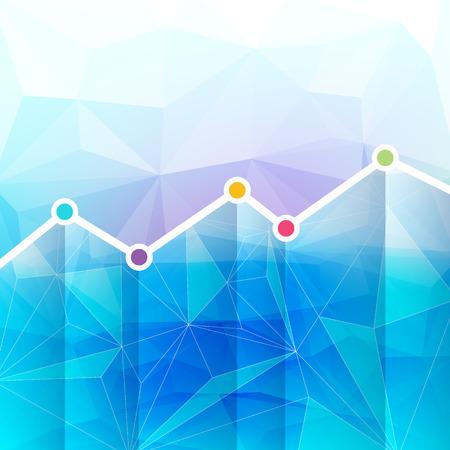 Abstracte grafiek Tijdlijn achtergrond. Mozaïek facetten textuur.