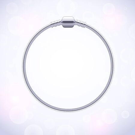clasp: Basic silver metallic round bracelet for charms and pendants.