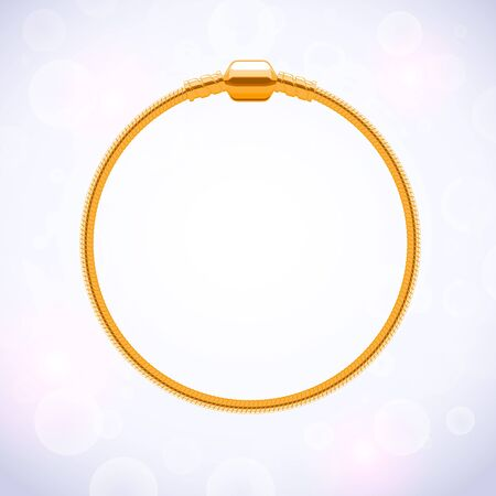 charms: Basic golden metallic round bracelet for charms and pendants.