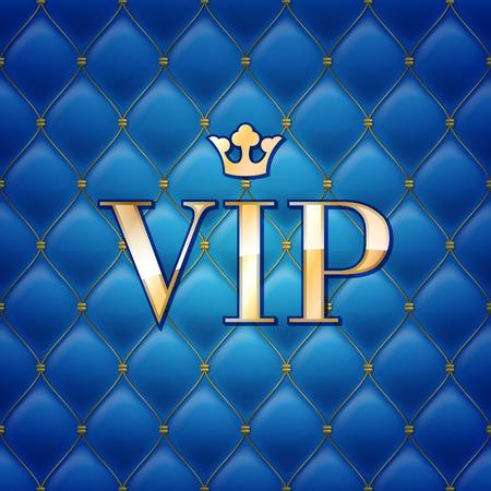 VIP 抽象キルトのバック グラウンド、ダイヤモンド、クラウンと黄金の手紙。  イラスト・ベクター素材