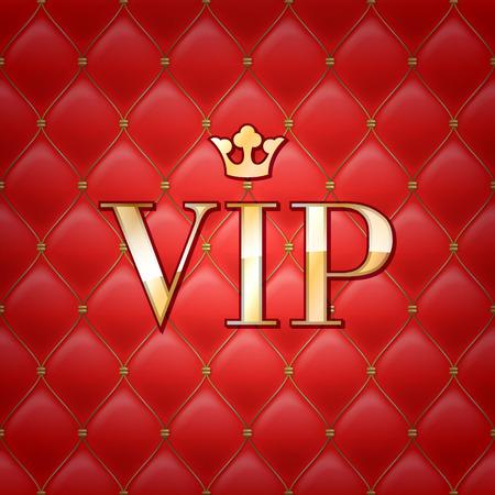 letras de oro: VIP fondo abstracto acolchado, los diamantes y las letras de oro con corona. Vectores