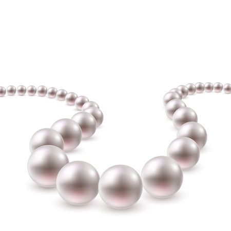 Pearl necklace swirling jewelry background. Stock fotó - 38194223