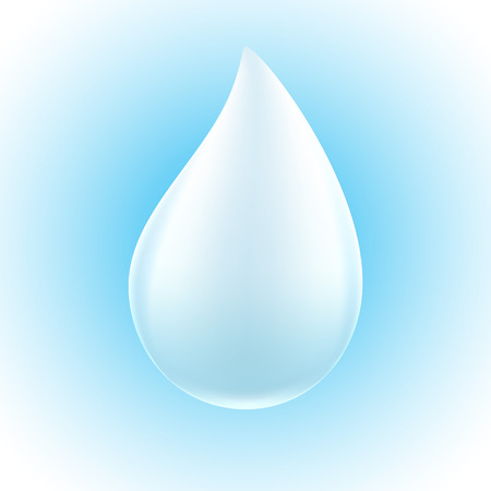 paint drop: White drop on blue background. Milk, water or paint droplet.