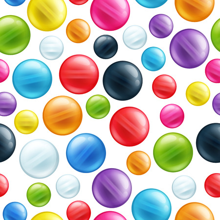 mardi gras background: Colorful round beads seamless pattern. Mardi gras background.