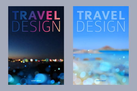 Cover design vector illustration - travel theme. Brochure, flayer, poster, booklet, magazine concept.
