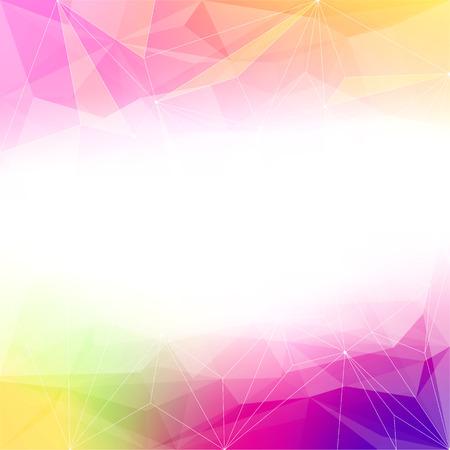 prisma: Fondo colorido de cristal abstracto. Hielo o estructura joya. Rosado, amarillo y morado colores brillantes.
