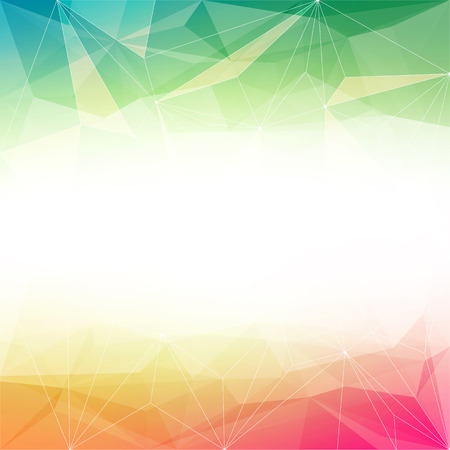 Colorful abstract crystal background. Ice or jewel structure. Red, Yellow and green bright colors. Ilustração