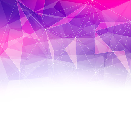 Colorful abstract crystal background. Ice or jewel structure. Pink and purple bright colors. Vettoriali