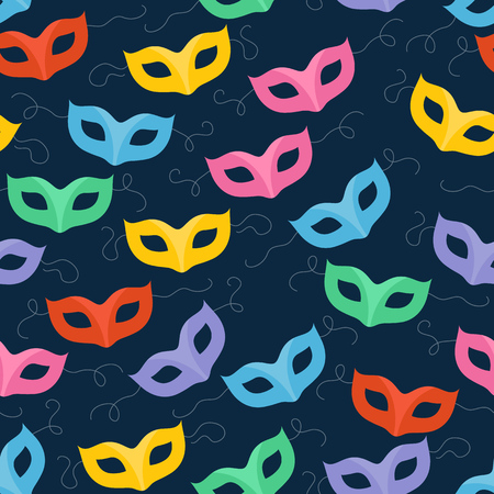 carnival masks: Colorful masquerade carnival masks seamless pattern. Party background.
