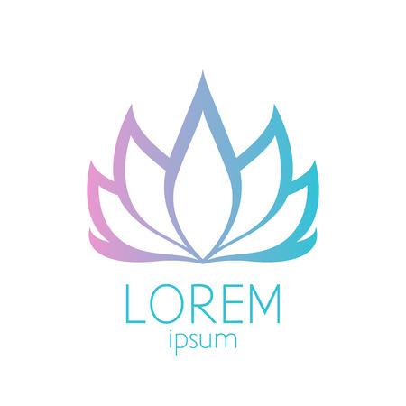 turquesa: Hermosa rosa y turquesa flor de loto logotipo de la plantilla de signos. Bueno para los dise�os de spa, yoga y medicina.
