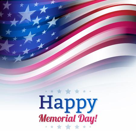 미국 국기 모션에서 흐림 스타일, 흰색에 머 금고. 미국, 미국 배경입니다. 별과 줄무늬. 국가 축하 배경 디자인. 일러스트