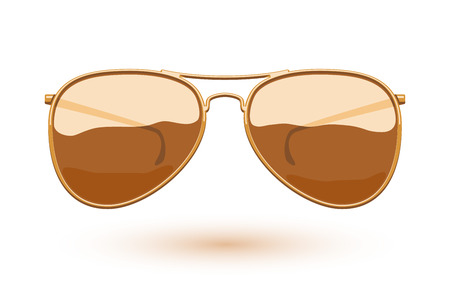 eyewear fashion: Colorful aviator sunglasses icon fashion vector illustration. Eye care symbol.