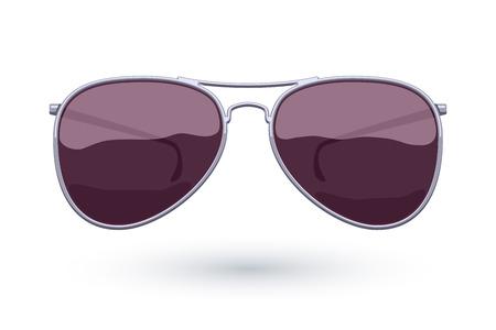 eyewear fashion: Colorful aviator sunglasses icon fashion vector illustration. Eye care symbol.