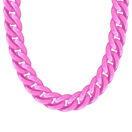 chunky: Chunky chain plastic pink necklace or bracelet. Personal fashion accessory design.