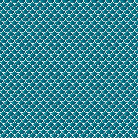 Escama de serpiente peces lagarto escalas de fondo sin fisuras. Modelo verde. Ilustración de vector
