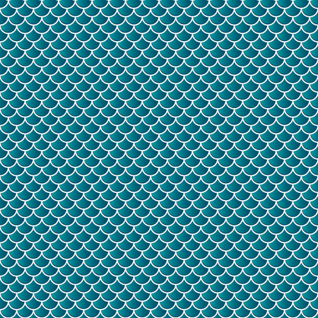 Squama fish snake lizard scales seamless background. Green pattern. Vector Illustration