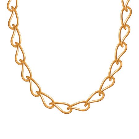 bracelet: Thin chain golden metallic necklace or bracelet. Personal fashion accessory design.