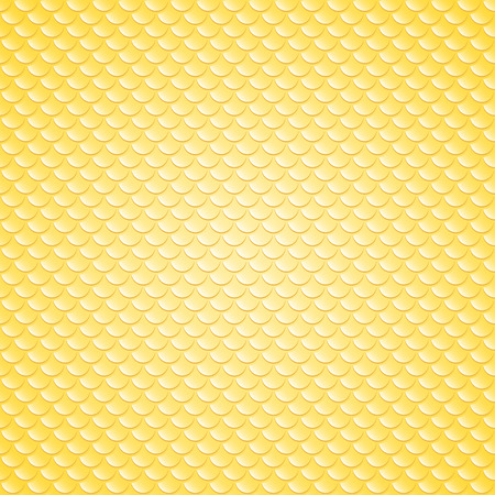 squama: Squama, fish, snake and lizard scales seamless background. Yellow pattern.