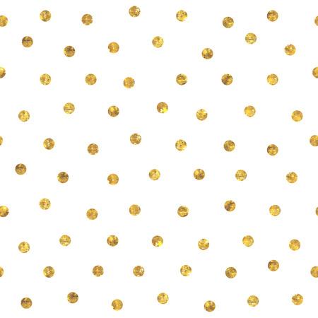 Nahtloses zufälliges goldenes Muster des Tupfens. Punkte von kleinen Mosaik facettierten Dreiecken. Standard-Bild - 42772518