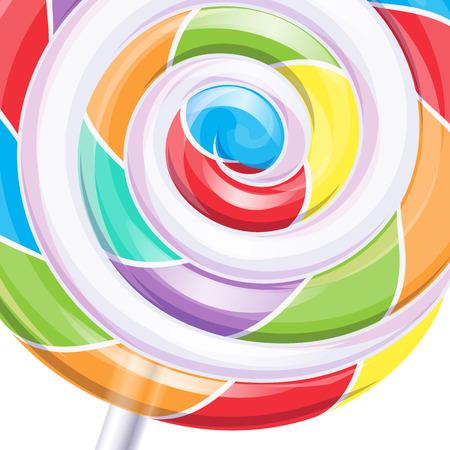 lollipop: Colorful big lollipop spiral candy background.  Illustration
