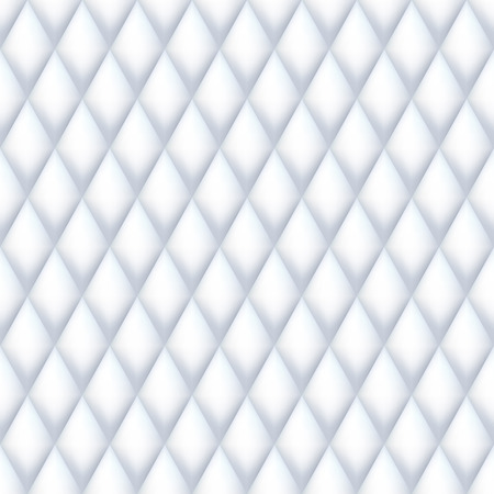 quilted: Quilted seamless pattern. White color illustration. Illustration